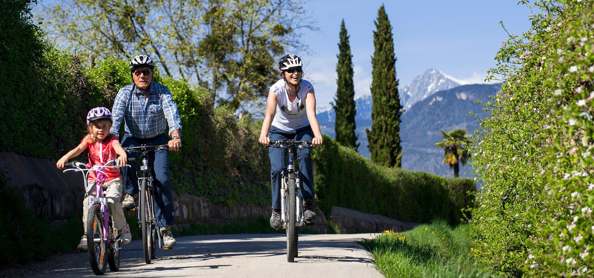 Urlaub in  Tisens - Südtirol - Fahrrad fahren